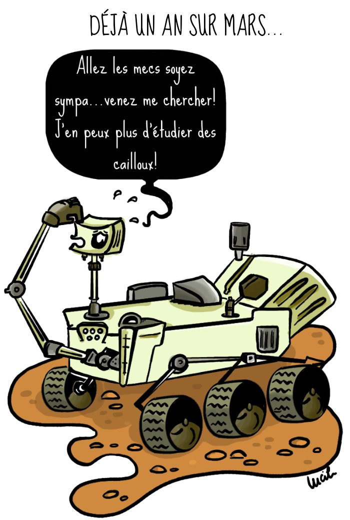 curiosity - Un an sur Mars
